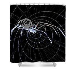 Spirit Animal . Spider Shower Curtain by John Jr Gholson