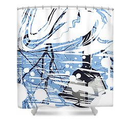 Spirit Animal . Swan Shower Curtain by John Jr Gholson
