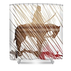 Spirit Animal . War Horse  Shower Curtain by John Jr Gholson