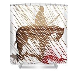 Spirit Animal . War Horse  Shower Curtain