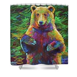 Spirit Bear Shower Curtain by Robert Phelps
