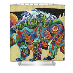 Spirit Bear Totem Shower Curtain