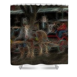 Spirit Carriage 3 Shower Curtain by William Horden