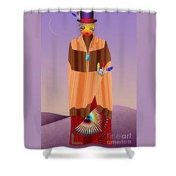 Spirit Civilized Shower Curtain