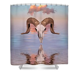 Spirit Goat Shower Curtain by Jerry McElroy