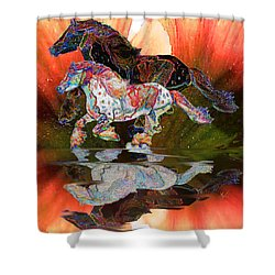 Spirit Horse II Leopard Gypsy Vanner Shower Curtain