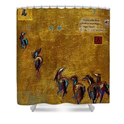 Spirit Horses Shower Curtain by Frances Marino