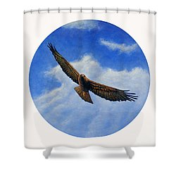 Spirit In The Wind Shower Curtain by Brian  Commerford