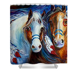 Spirit Indian War Horses Commission Shower Curtain