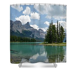 Shower Curtain featuring the photograph Spirit Island And The Hall Of The Gods by Sebastien Coursol