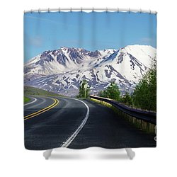 Spirit Lake Highway To Mt. St. Helens Shower Curtain