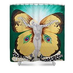 Blaa Kattproduksjoner             Spirit Of Aurelias Flight Shower Curtain