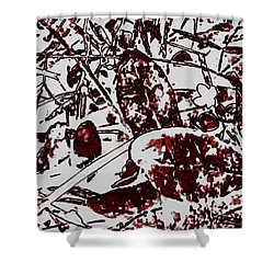 Spirit Of Leaves Shower Curtain by Gina O'Brien