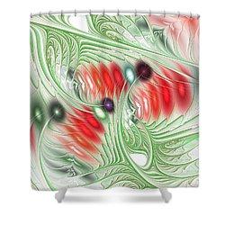 Shower Curtain featuring the digital art Spirit Of Spring by Anastasiya Malakhova