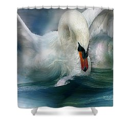 Spirit Of The Swan Shower Curtain