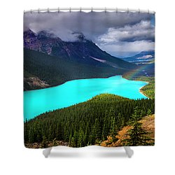 Spirit Of The Wolf Shower Curtain by John Poon