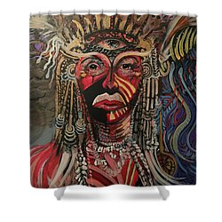 Spirit Portrait Shower Curtain