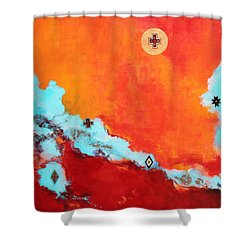Spirit Power Shower Curtain by M Diane Bonaparte