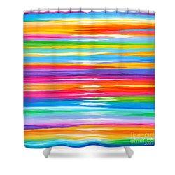 Spirit Shower Curtain by Sandra Lett