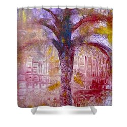 Shower Curtain featuring the painting Spirit Tree by Claire Bull