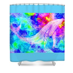 Spirit Whale 3 Shower Curtain by Nick Gustafson