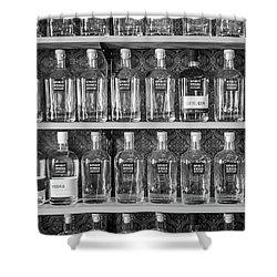 Shower Curtain featuring the photograph Spirit World Bottles by T Brian Jones
