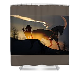 Spirits In The Sky Shower Curtain
