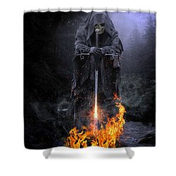 Spirits Released Shower Curtain