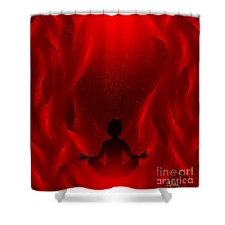 Spiritual Art - Color Meditation - Red By Rgiada Shower Curtain by Giada Rossi