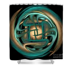 Shower Curtain featuring the digital art Spiritual Art - Healing Labyrinth By Rgiada by Giada Rossi