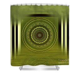 Shower Curtain featuring the digital art Spiritual Art - Meditation Under The Pier 1 By Rgiada by Giada Rossi