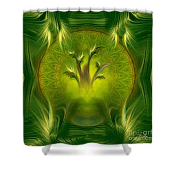 Shower Curtain featuring the digital art Spiritual Art - Tree Of Wisdom By Rgiada by Giada Rossi
