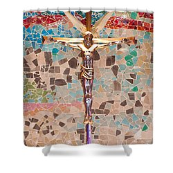 Spiritual Beauty Shower Curtain by Colleen Coccia