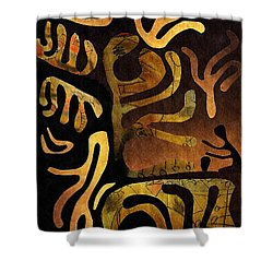 Spiritual Drummer Shower Curtain by Sarah Loft