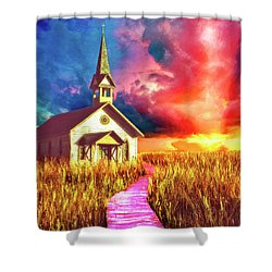 Spiritual Event Shower Curtain