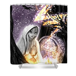 Spiritual Ghost Fantasy Art Shower Curtain