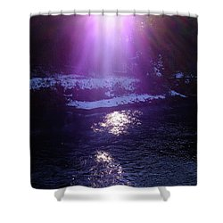 Spiritual Light Shower Curtain by Tatsuya Atarashi