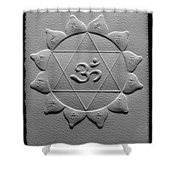 Spiritual Om Yantra Shower Curtain by Suhas Tavkar