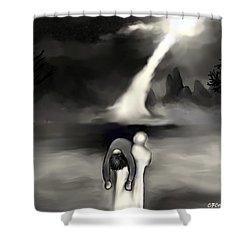 Spiritual Rescue Shower Curtain by Carmen Cordova