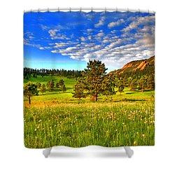 Spiritual Sky Shower Curtain by Scott Mahon