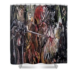Shower Curtain featuring the painting Spiritual Void by Reed Novotny