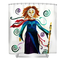 Spiritual Warrior Shower Curtain by Jean Fry