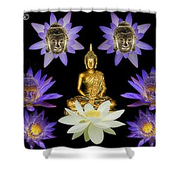 Spiritual Water Lilly Shower Curtain by Gary Crockett