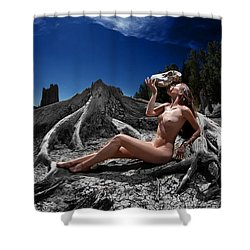 Shower Curtain featuring the photograph Spiritus Mundi by Dario Infini