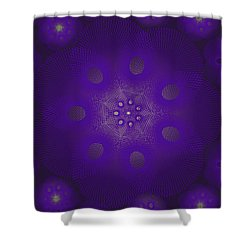 Spiro Dark Shower Curtain