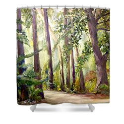 Spirt Of The Green Trees Shower Curtain