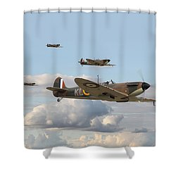 Spitfire - 54 Squadron Shower Curtain