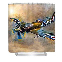 Spitfire Dawn Flight Shower Curtain