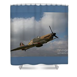 Shower Curtain featuring the photograph Spitfire by Gary Bridger