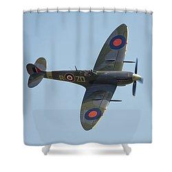 Spitfire Mk9 Shower Curtain by Ian Merton